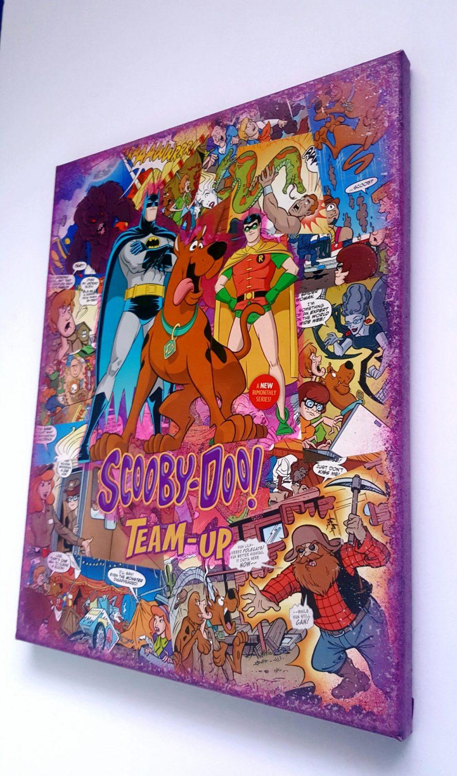 Comic Art / Batman U0026 Scooby Doo / DC Comics Superhero Wall Art Comic Art/  Comic Book Art Gift/ Superhero Gift Custom Comic Book Canvas Art