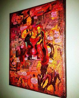 Luke Cage X Iron Fist U2013 Premium Marvel Graphic Canvas By StarkeMatter U2013  Superhero Comic Book