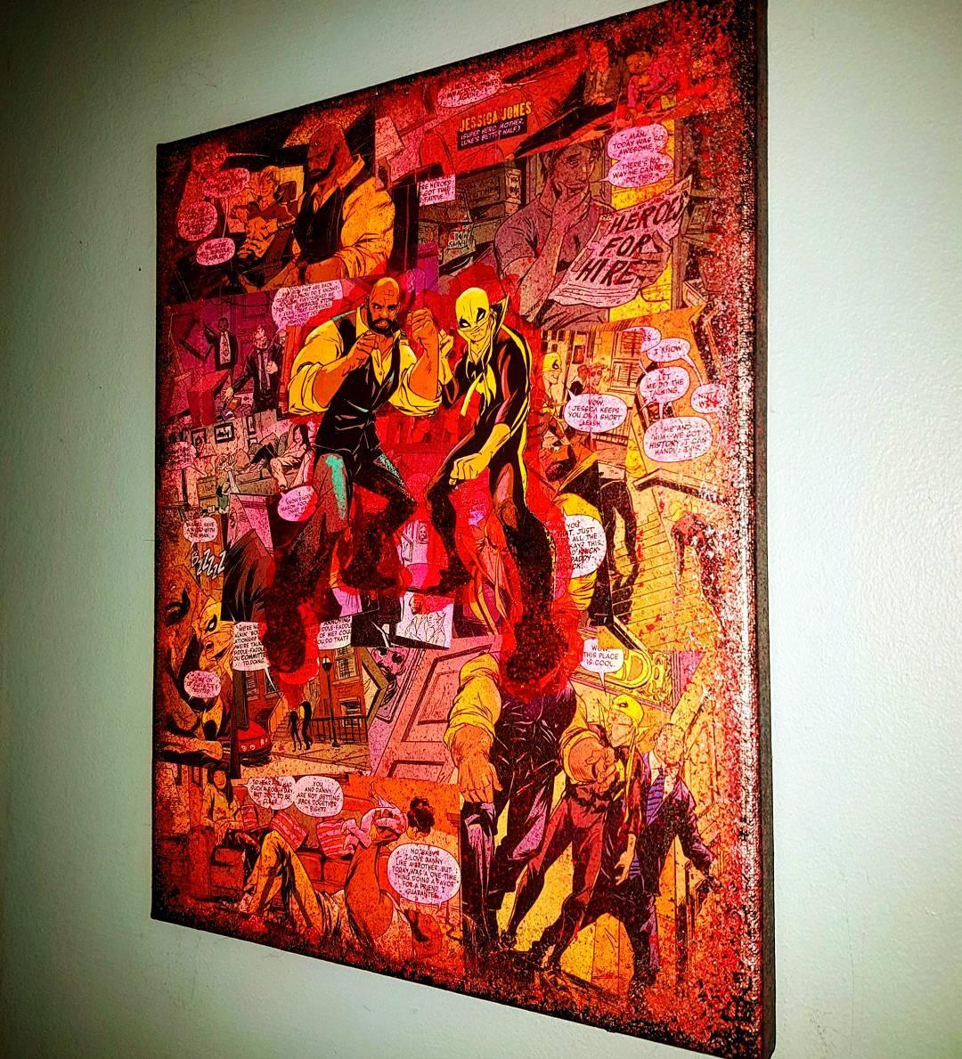 Luke Cage X Iron Fist - Premium Marvel Graphic Canvas by ...