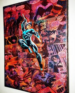 Nightwing U2013 Premium DC Graphic Canvas By StarkeMatter U2013 Superhero Comic Book  Mixed Media Wall Art
