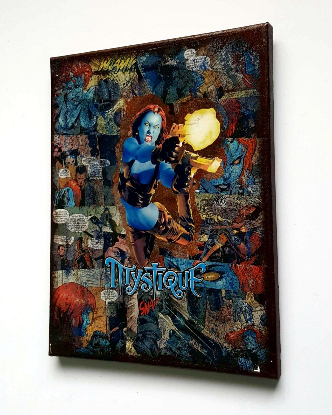 Mystique   Marvel Graphic Canvas By StarkeMatter   Superhero Comic Book Home  Decor Wall Art Canvas